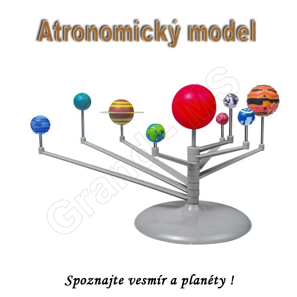 Astronomický model s 9 planétami vesmíru - kreatívna sada