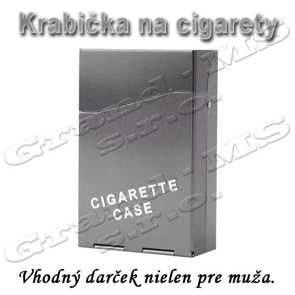 Tabatierka, púzdro, obal či krabička na cigarety, šedá