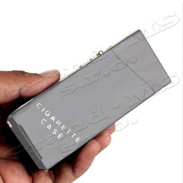 Tabatierka, púzdro, obal či krabička na SLIM cigarety, šedá