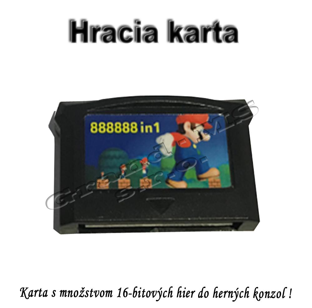 Hracia karta - Cartridge do herných konzol s množstvom 16-bitových hier
