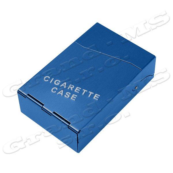 Tabatierka, púzdro, obal či krabička na cigarety, modrá