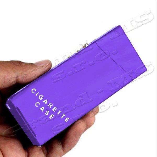 Tabatierka, púzdro, obal či krabička na SLIM cigarety, fialová