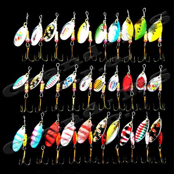 Návnada na rybolov, viacfarebná - sada 30ks