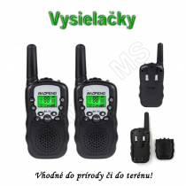 Vysielačky Walkie Talkie BF-T3 s dosahom až 3km