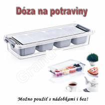 Prenosný GRAND BOX so 4 samostanými nádobami na jedlo