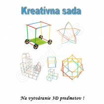 Kreatívne vzdelávacia stavebnica Straws Building Blocks 408ks