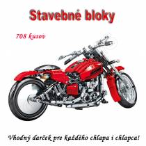 Stavebné bloky - Motocykel 708ks typ A