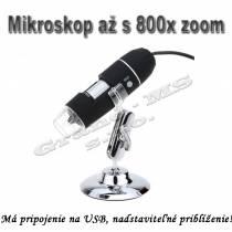 Prenosný digitálny USB mikroskop TM-M200 20x-800x zvačšenie