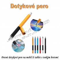 Dotykové pero s tenkým hrotom 2 v 1 - čierne