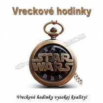 Vreckové hodinky - retro bronzové STAR WARS 3D dizajn