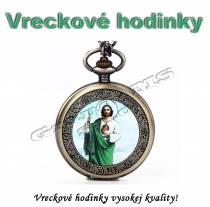 Vreckové hodinky JEŽIŠ - retro bronzový dizajn