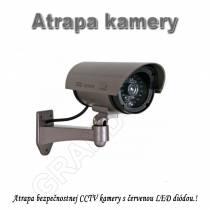 Atrapa bezpečnostnej CCTV  kamery s červenou LED diódou