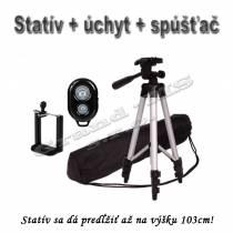 Stojan / statív 103cm + úhyt + diaľkové ovládanie 3v1
