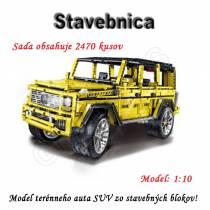 Stavebnica - stavebné bloky terénneho auta SUV 2470ks - typ A