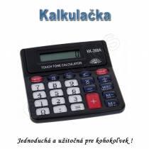 Kalkulačka s osemmiestnym displejom