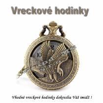 Vreckové hodinky - retro bronzový GOLF 3D dizajn