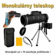 Monokulárny teleskop so statívom 50x zoom