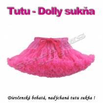 Tutu - Dolly sukňa pre dievčatá od 6 do 10 rokov, červená