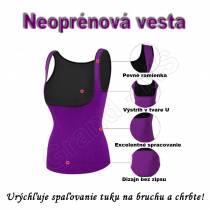 Neoprénová športová vesta na cvičenie/formovanie/chudnutie - fialová