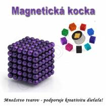 Magnetická NEOKOCKA - NEOCUBE magnetické guličky fialové 216ks, 5mm