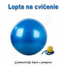 Gymnastická lopta - GYM BALL 75cm s pumpou modrá