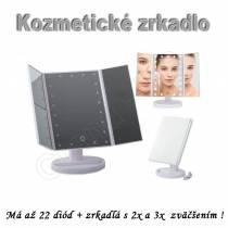 Kozmetické zrkadlo BEAUTY s 22 LED osvetlením a 2x 3x  zväčšením