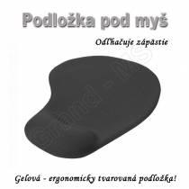 Podložka pod myš - gelová ergonomicky tvarovaná odľahčujúca zápästie