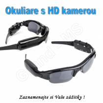 Športové okuliare so zabudovanou mini HD kamerou 480P