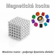 Magnetická NEOKOCKA - NEOCUBE magnetické guličky strieborné 216ks, 5mm