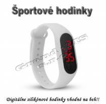 Športové digitálne hodinky QUEEN-US 0216, biele
