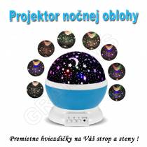 Projektor nočnej oblohy Star Master, model Guľa modrá