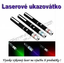 Laserové ukazovátko - vysoko výkonný laser 5mW zelený