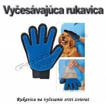 Vyčesávajúca rukavica na srsť zvierat - pre psov a mačky