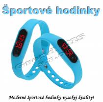 Športové digitálne hodinky QUEEN-US 0217, svetlo modré