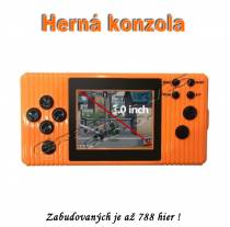 Herná konzola EDAL oranžová - zabudovaných 788 hier