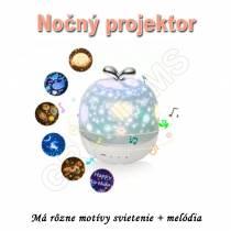 Nočný projektor  MULTISLEEP041 - so 6 motívmi  a hudbou