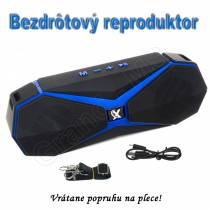 Bluetooth prenosný reproduktor GB - speaker s popruhom