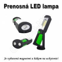 Prenosná LED lampa 3W s magnetmi a hákom