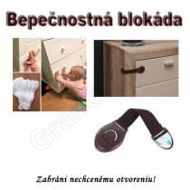 Bezpečnostná univerzálna blokáda/zámok na dvierka/šuflíky nábytku - čierna