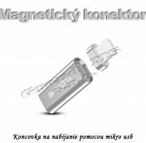 Magnetický konektor s koncovkou miro USB pre Androidy