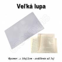 Lupa - zväčšovacie sklo 18x12 so zväčšením až 5x