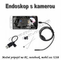 Endoskop s HD kamerou, 2 MPx, 640x480, 5.5mm, kábel 10m