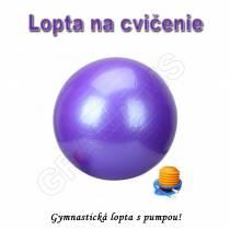 Gymnastická lopta - GYM BALL 65cm s pumpou fialová