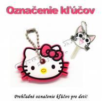Označenie kľúčov pre deti - Hello Kitty