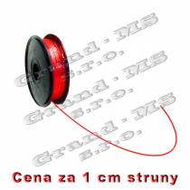 Tlačová struna ABS - 1,75 mm - červená (cena za 1 m)