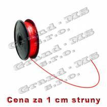 Tlačová struna PLA - 1,75 mm - červená (cena za 1 m)