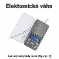 Málá prenosná presná digitálna mini váha od 0.01g do 500g