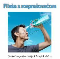 Športová fľaša s rozprašovačom 600ml 2v1 - modrá
