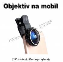 Objektív na mobil - super rybie oko so záberom až 235°