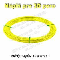 Náplň pre 3D pero, ABS - 1,75 mm - žltá (cena za 10 m)